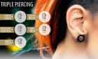 Серьги для пирсинга уха: виды украшений и фото