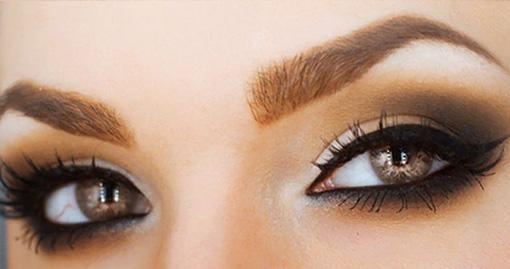 красивый макияж с теневой растушевкой