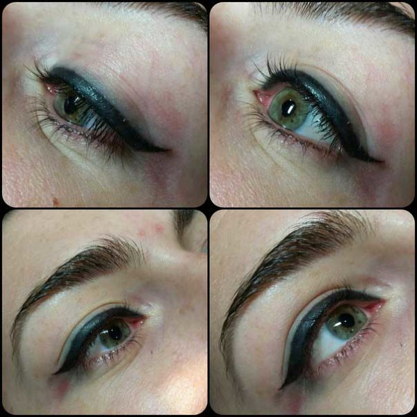 биотатуаж стрелок глаз