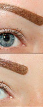 коричневые брови