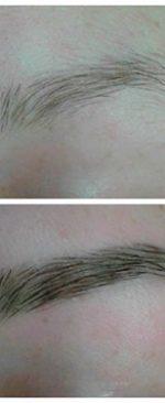 добавление густоты и цвета бровям