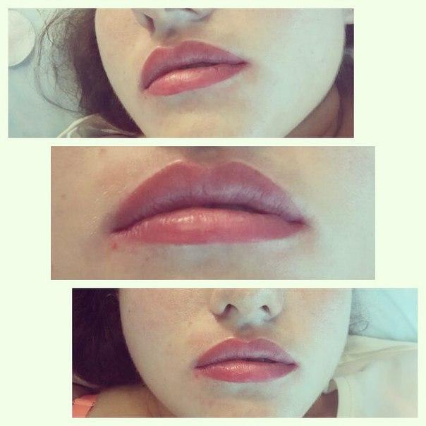 Фото цвета татуажа губ