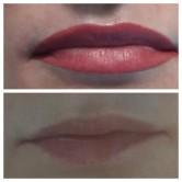 цвет татуаж губ