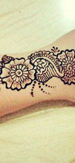 цветы на руке