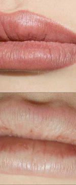 добавление цвета на губах