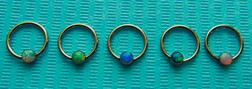 кольца в ухо