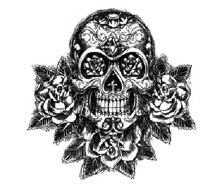 Мехенди череп эскиз