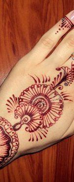 татуировка хной на время