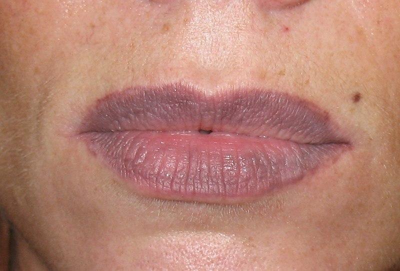 растушевка губ фото