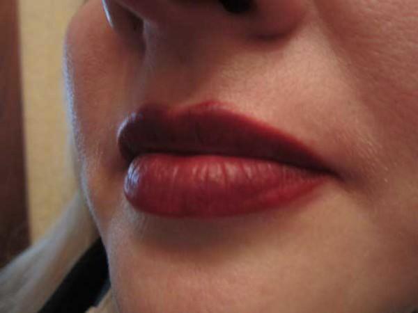 растушевка губ фото после процедуры