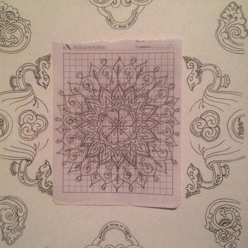 простой рисунок мехенди