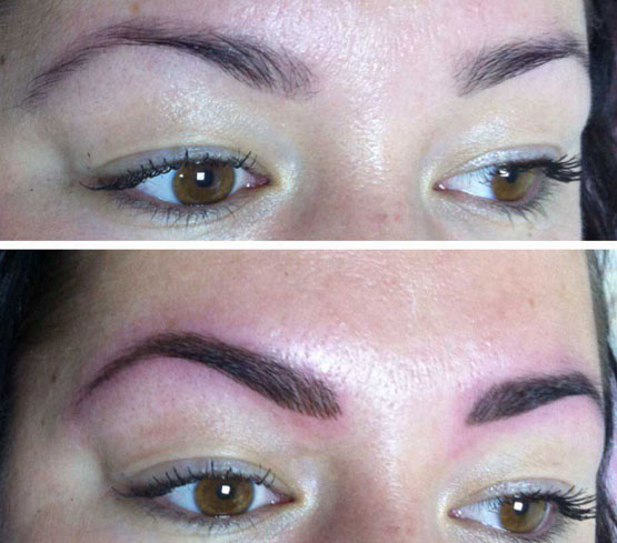 Сколько нельзя мочить перманентный макияж бровей