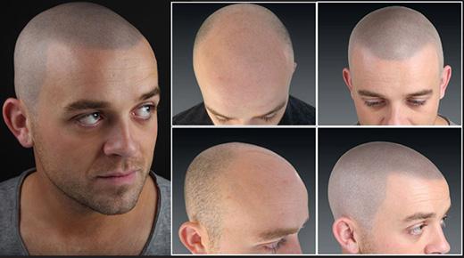 татуаж головы мужчины