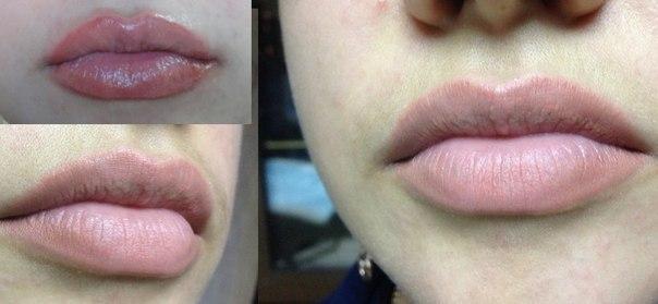 Перманентный макияж губ эффект натюрель
