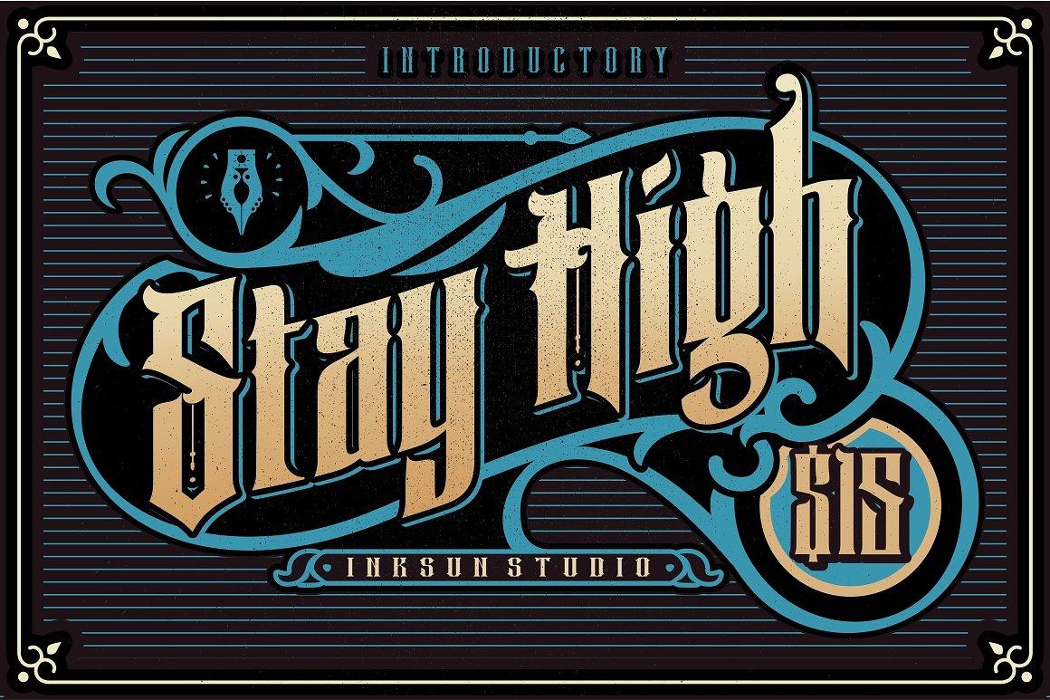 шрифт Stay High