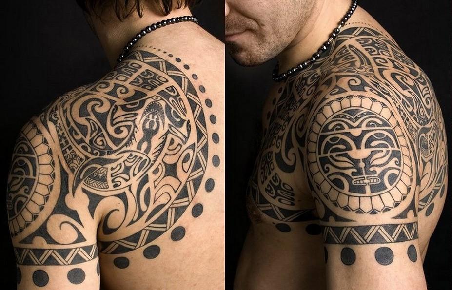 стили тату для мужчины полинезия