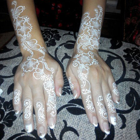 белове мехенди на руках