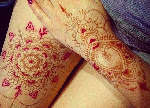 цветная био татуировка