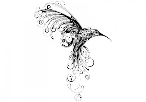 эскизы мехенди птицы