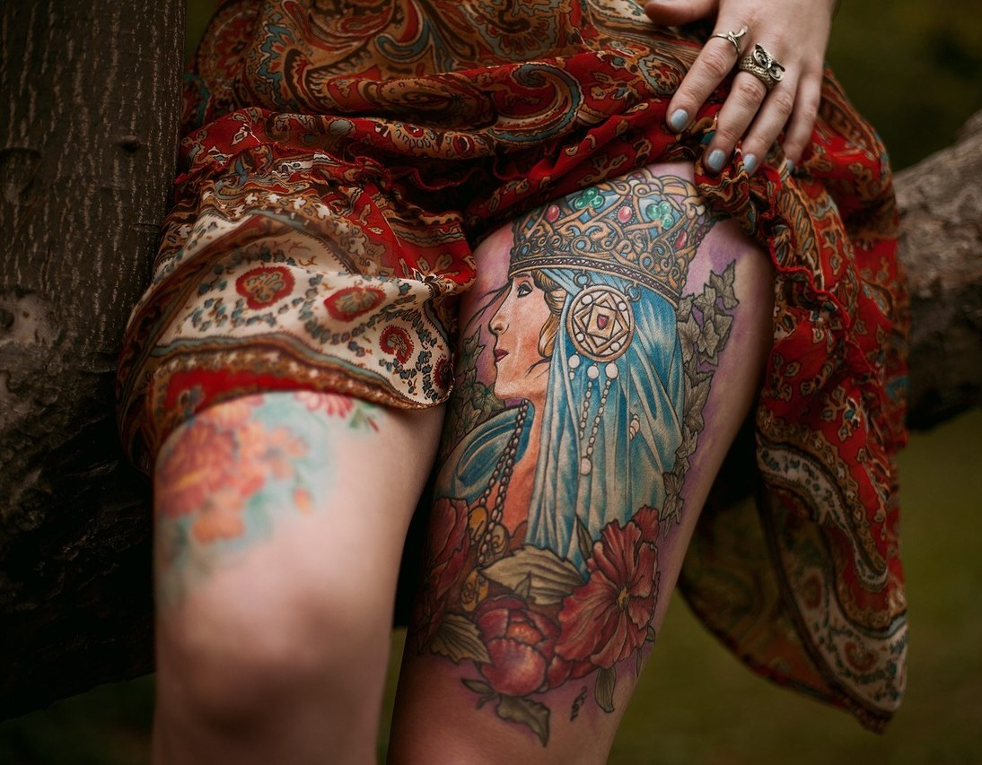 тату для девушек славянский стиль
