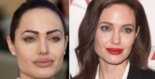 фото брови Джоли