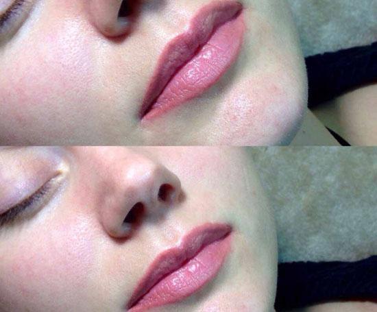губы после макияжа на фото