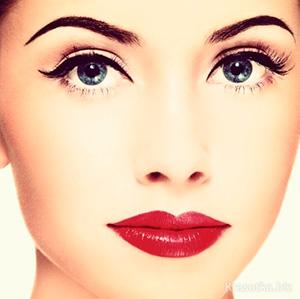 лицо с макияжем