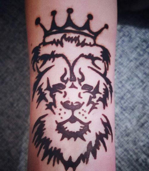 мехенди лев с короной