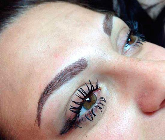 мануальный макияж бровей