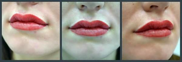 сколько времени держится татуаж губ