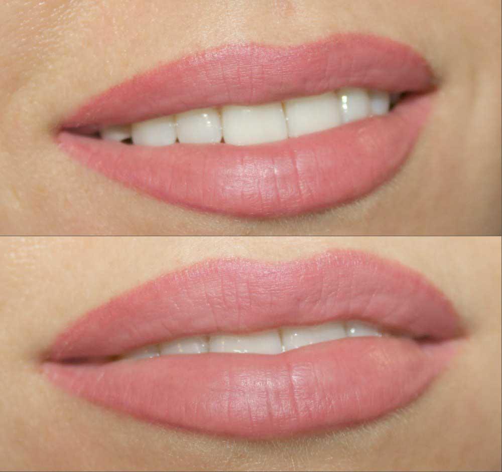достоинству качество, светлый кайал губ фото до и после это