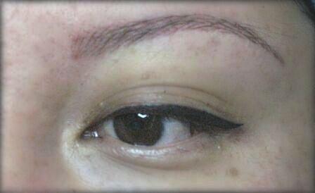 татуаж глаз стрелки с растушевкой