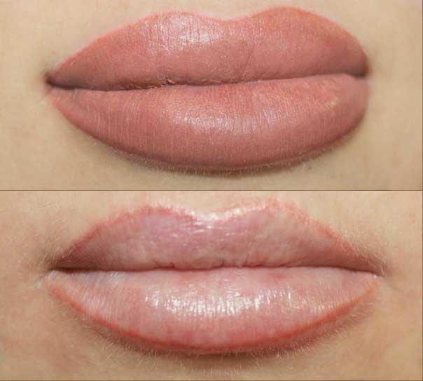 очерчивание контура губ