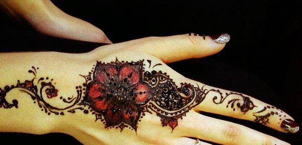 цветное тату с хной